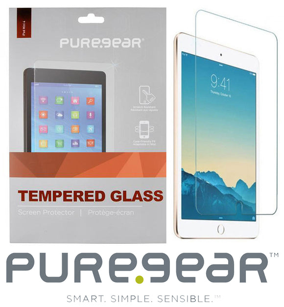 PUREGEAR 9H TEMPERED GLASS SCREEN PROTECTOR FOR APPLE iPAD MINI 4