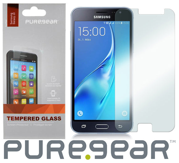 PUREGEAR 9H TEMPERED GLASS SCREEN PROTECTOR FOR SAMSUNG GALAXY J3 2016, J3V, SOL