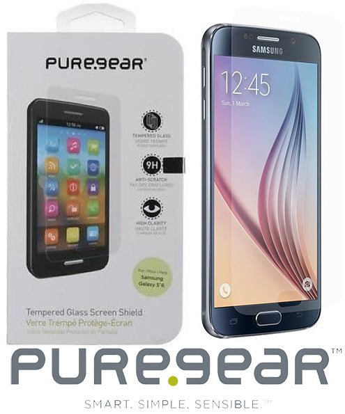 PUREGEAR HARD 9H TEMPERED GLASS SCREEN GUARD PROTECTOR FOR SAMSUNG GALAXY S6