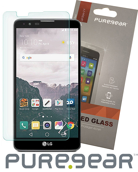 PUREGEAR 9H TEMPERED GLASS SCREEN PROTECTOR FOR LG STYLO-2 PLUS, STYLUS-2, 2V