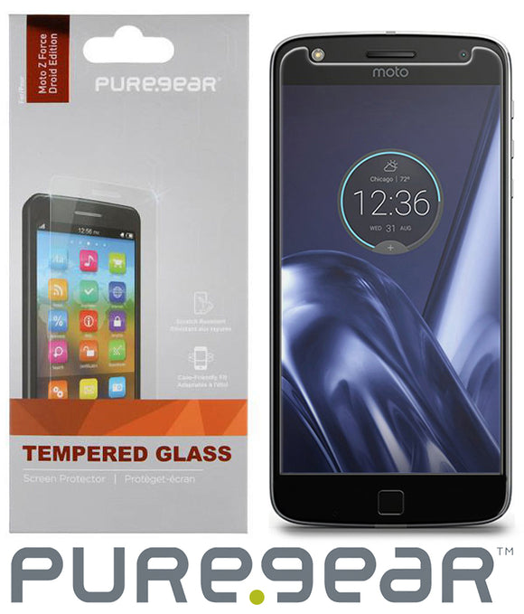 CLEAR HARD TEMPERED GLASS SCREEN PROTECTOR FOR MOTOROLA MOTO Z FORCE XT1650-02