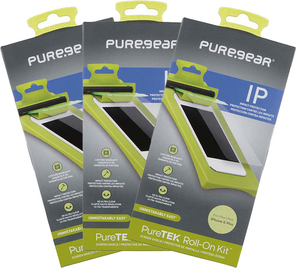 3x PureGear PureTek Roll-On Screen Protector Kit for Apple iPhone 6 Plus