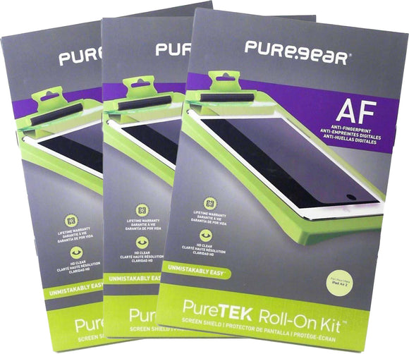 3x PureGear PureTek Roll-On Screen Protector Kit for Apple iPad Air, Air-2