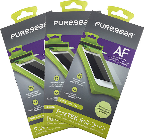 3x PureGear PureTek Screen Protector Kit for Samsung Galaxy Core Prime G360