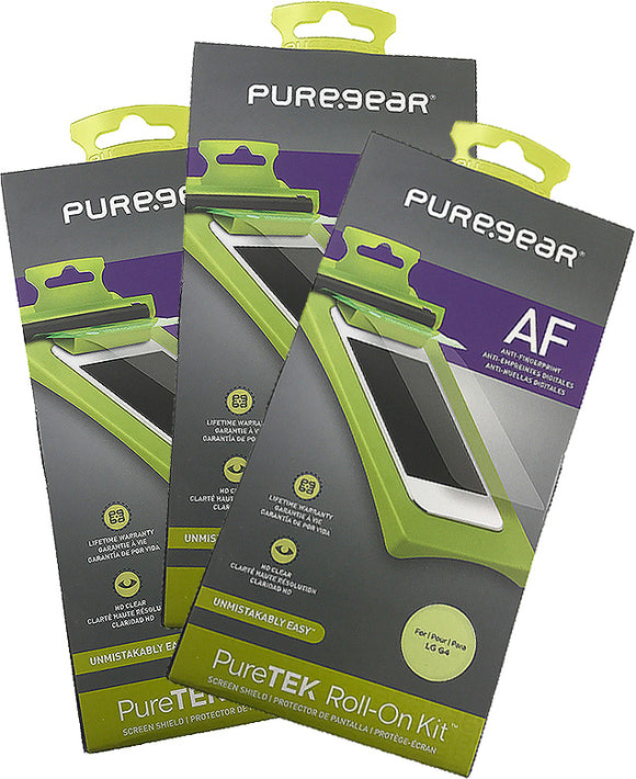 3x PureGear PureTek Roll-On Screen Protector Kit for LG G4 (Anti-Fingerprint)
