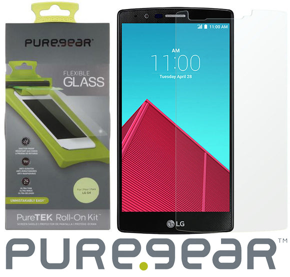 PUREGEAR PURETEK ROLL-ON SCREEN PROTECTOR KIT FLEXIBLE GLASS GUARD FOR LG G4