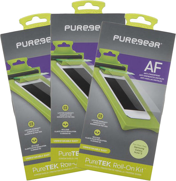 3x PureGear Screen Protector Kit for Samsung Galaxy Note 5 (Anti-Fingerprint)