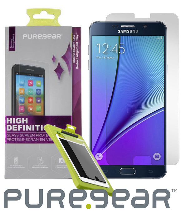 PUREGEAR PURETEK HARD TEMPERED GLASS SCREEN PROTECTOR FOR SAMSUNG GALAXY NOTE 5