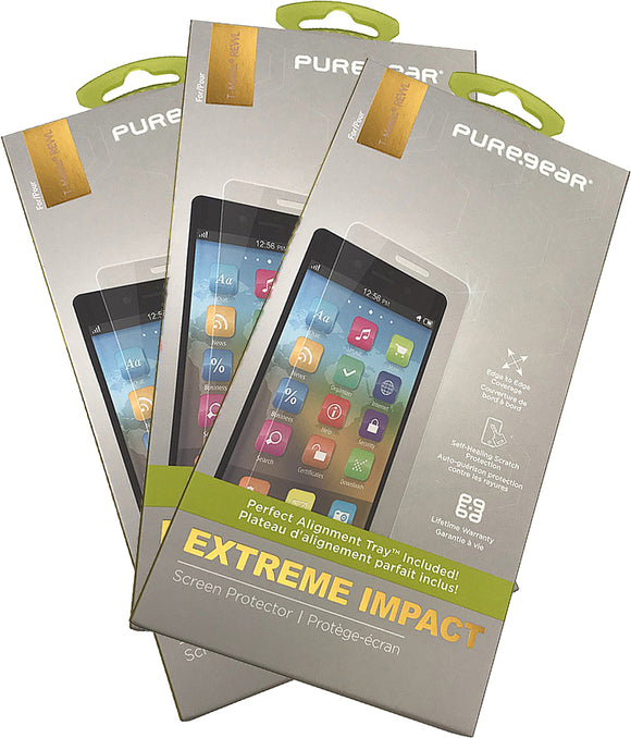 3x PureGear PureTek Roll On Screen Protector for Alcatel A30 Fierce/Plus, REVVL