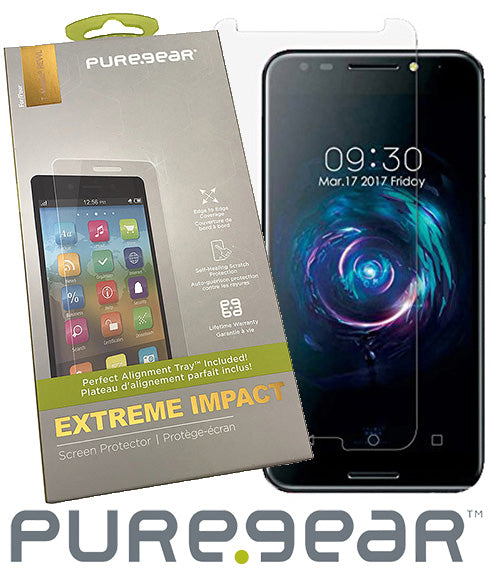 PureGear PureTek Roll-On Screen Protector for Alcatel A30 Fierce/Plus, REVVL