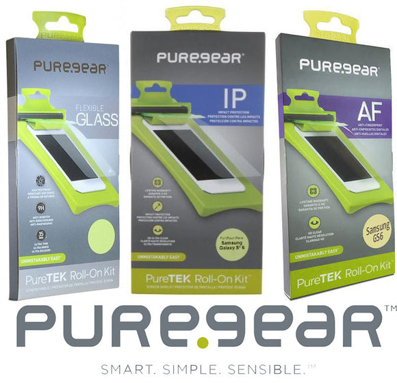 VARIETY 3-PACK PUREGEAR PURETEK ROLL-ON SCREEN PROTECTOR FOR SAMSUNG GALAXY S6