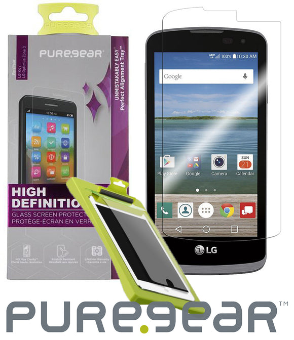 PUREGEAR TEMPERED GLASS SCREEN PROTECTOR FOR LG OPTIMUS ZONE-3, K4, SPREE, REBEL