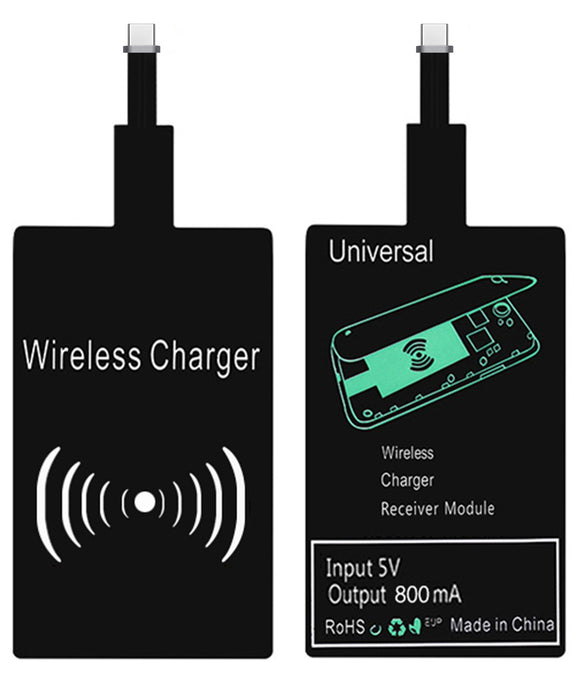 Qi Wireless Charger Receiver Adapter Sticker for USB Type-C Cell Phone USBC