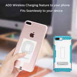 QI WIRELESS CHARGER RECEIVER ADAPTER STICKER FOR APPLE iPHONE 6 6s 7 PLUS 5 5s