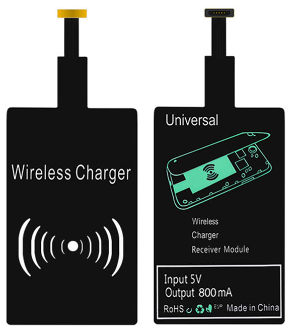 QI WIRELESS CHARGER RECEIVER ADAPTER STICKER FOR STANDARD MICRO USB CELL PHONE