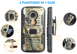 Camo Tree Real Woods Case + Belt Clip + Magnet Car Mount for Moto E5 Play/Cruise