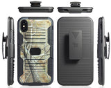 Outdoor Camo Tree Real Woods Case Cover + Belt Clip for iPhone Xs Max (10s Max)