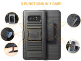BLACK CASE + BELT CLIP HOLSTER + MAGNETIC CAR MOUNT FOR SAMSUNG GALAXY NOTE 8