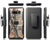 CAMO LEAF TREE MAGNET GRIP CASE + BELT CLIP HOLSTER FOR SAMSUNG GALAXY NOTE 8