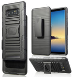 BLACK MAGNET GRIP CASE + BELT CLIP HOLSTER STAND FOR SAMSUNG GALAXY NOTE 8