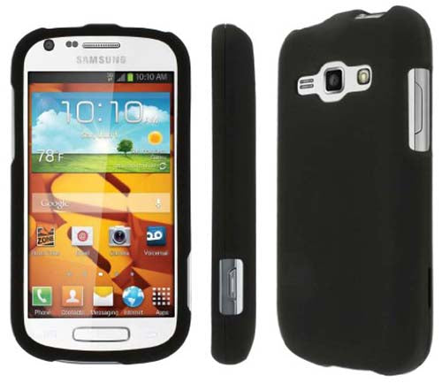 BLACK RUBBERIZED HARD SHELL CASE COVER FOR SAMSUNG GALAXY RING PREVAIL-2