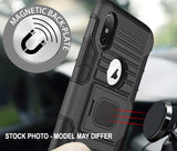 Black Magnet Grip Case + Belt Clip Holster for Motorola Moto Z3, Z3 Play, XT1929