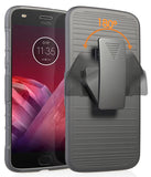 Black Case + Belt Clip Holster + Magnetic Car Mount for Moto Z3, Z3 Play, XT1929