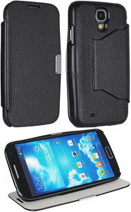 PUREGEAR BLACK FOLIO FLIP CASE COVER MAGNETIC STAND FOR SAMSUNG GALAXY S4 S IV