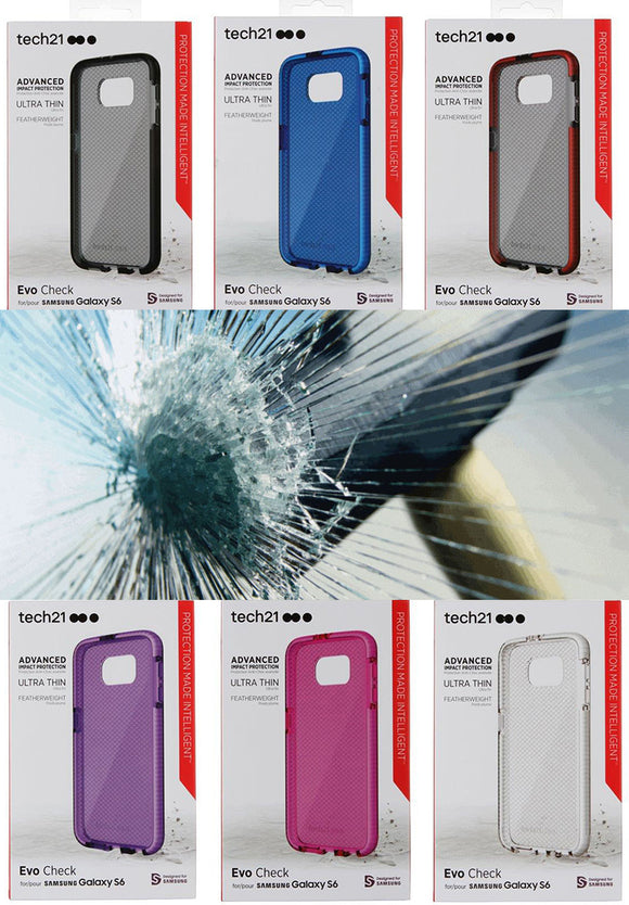 Tech21 EVO CHECK CASE + TEMPERED GLASS FOR SAMSUNG GALAXY S6
