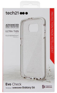Tech21 CLEAR/WHITE EVO CHECK ANTI-SHOCK CASE TPU COVER FOR SAMSUNG GALAXY S6