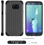 BLACK MATTE METALLIC SLIM DUO-SHIELD CASE COVER FOR SAMSUNG GALAXY S6 EDGE PLUS