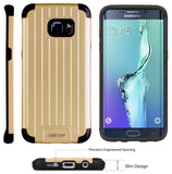 GOLD MATTE METALLIC SLIM DUO-SHIELD CASE COVER FOR SAMSUNG GALAXY S6 EDGE PLUS +