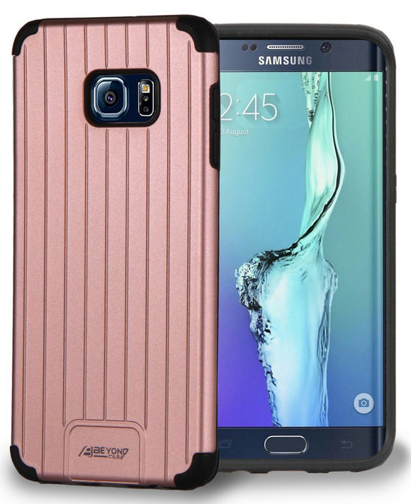 ROSE GOLD PINK MATTE SLIM DUO-SHIELD CASE COVER FOR SAMSUNG GALAXY S6 EDGE PLUS