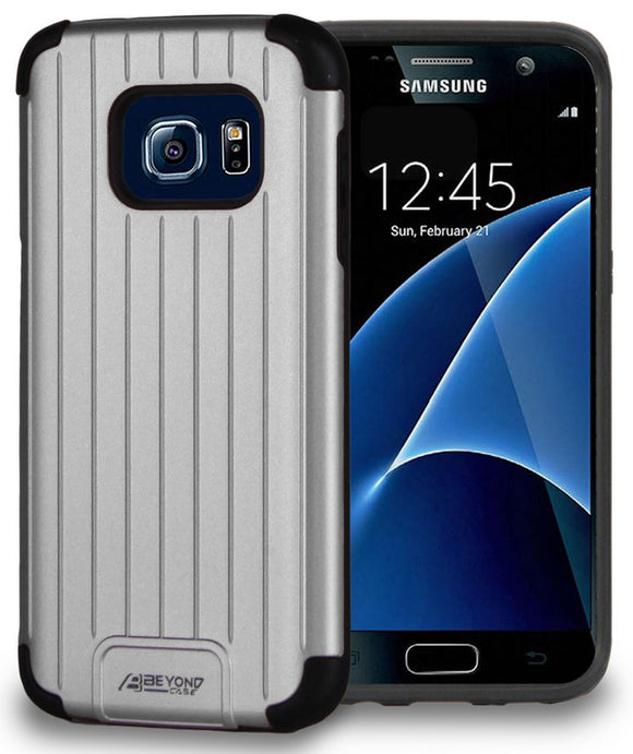 SILVER MATTE METALLIC SLIM DUO-SHIELD CASE RUGGED COVER FOR SAMSUNG GALAXY S7
