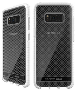 Tech21 CLEAR/WHITE EVO MESH ANTI-SHOCK CASE TPU COVER FOR SAMSUNG GALAXY S8