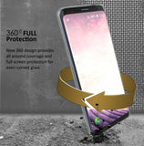 TRI-MAX CLEAR SCREEN GUARD FULL BODY TPU WRAP CASE COVER FOR SAMSUNG GALAXY S9