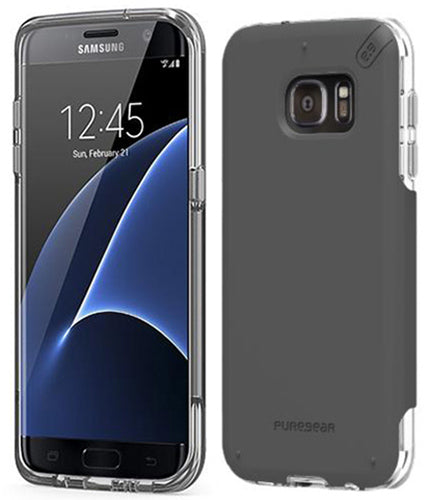 PUREGEAR DUALTEK PRO BLACK ANTI-SHOCK CASE HARD COVER FOR SAMSUNG GALAXY S7 EDGE