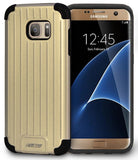 GOLD MATTE METALLIC SLIM DUO-SHIELD CASE RUGGED COVER FOR SAMSUNG GALAXY S7 EDGE