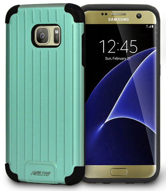 MINT MATTE SLIM DUO-SHIELD CASE RIBBED RUGGED COVER FOR SAMSUNG GALAXY S7 EDGE
