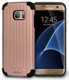 ROSE GOLD PINK MATTE SLIM DUO-SHIELD CASE COVER FOR SAMSUNG GALAXY S7 EDGE
