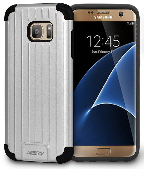 SILVER MATTE METALLIC SLIM DUO-SHIELD CASE COVER FOR SAMSUNG GALAXY S7 EDGE
