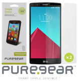 2X PUREGEAR SCREEN PROTECTOR SIMPLE SHIELD SCRATCH SAVER FOR LG G4