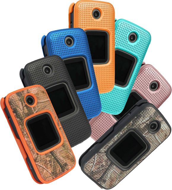Grid Texture Snap-On Protective Case Slim Cover for Alcatel Smartflip, Go Flip 3