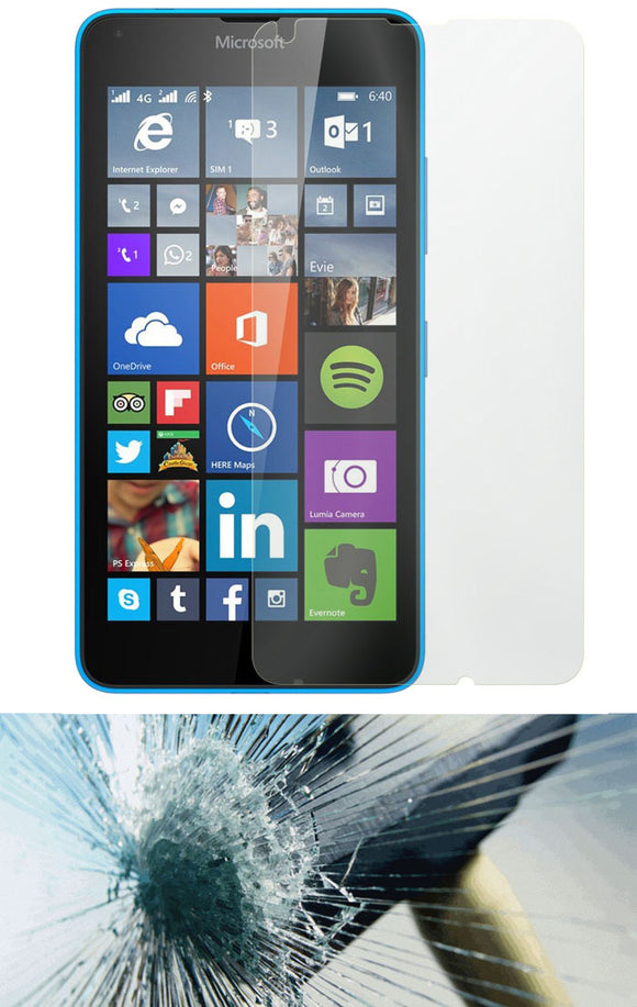 HARD TEMPERED GLASS SCREEN GUARD PROTECTOR CRACK SAVER FOR MICROSOFT LUMIA 640