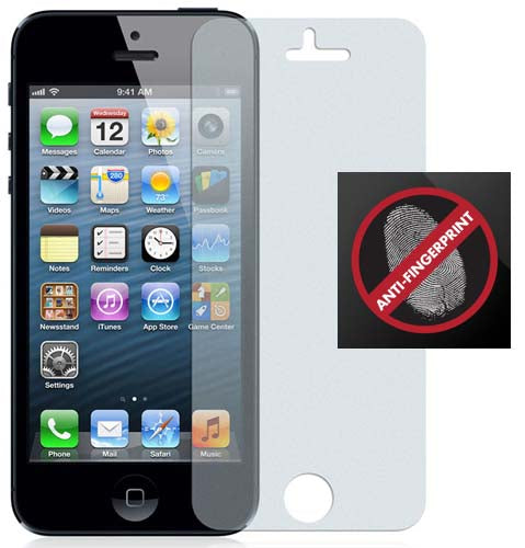 2 ANTI-GLARE FINGERPRINT LCD SCREEN PROTECTOR SCRATCH SAVER FOR iPHONE 5 5s