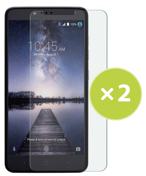 2 CLEAR LCD SCREEN PROTECTOR SCRATCH GUARD SAVER FOR ZTE ZMAX PRO Z981