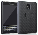 BLACK KICKSTAND SLIM CASE HARD COVER FOR BLACKBERRY PASSPORT (AT&T, SQW100-3)
