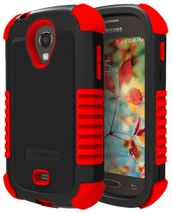 RED DUO-SHIELD RUBBER SKIN HARD CASE COVER FOR SAMSUNG GALAXY LIGHT T399 PHONE