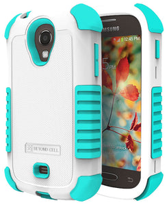 TURQUOISE DUO-SHIELD RUBBER SKIN HARD CASE COVER FOR SAMSUNG GALAXY LIGHT T399