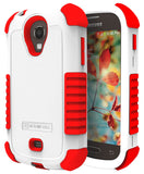 WHITE RED DUO-SHIELD RUBBER SKIN HARD CASE COVER FOR SAMSUNG GALAXY LIGHT T399